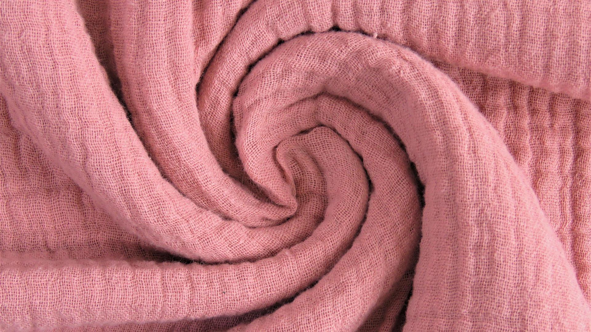 muslin solid pink