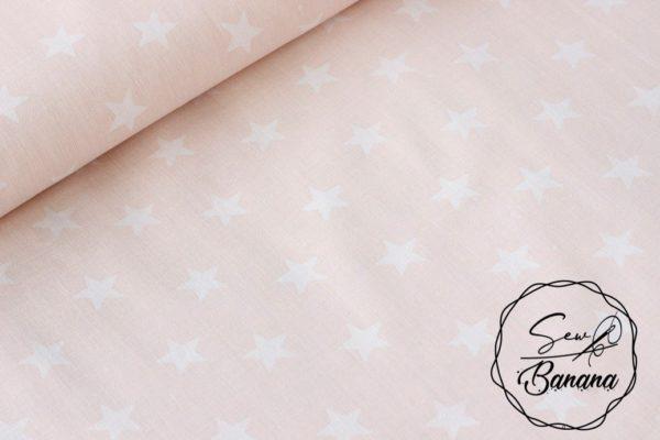 star fabric pink