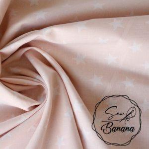 stars fabric pink