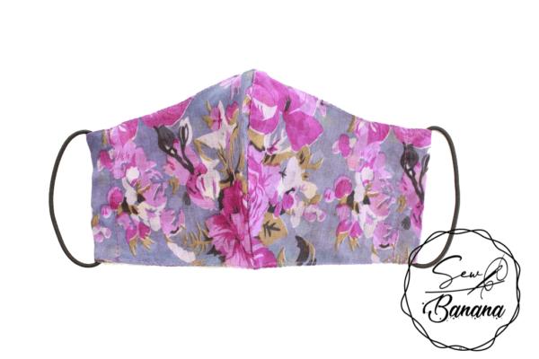 purple flowers face mask