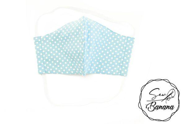 blue dots face mask