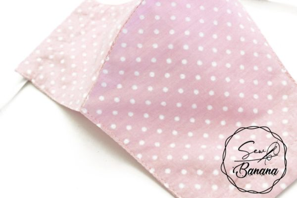 light pink dots face mask