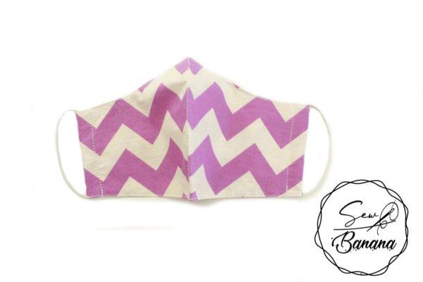 purple zigzag face mask