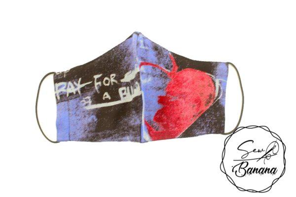 blue love face mask