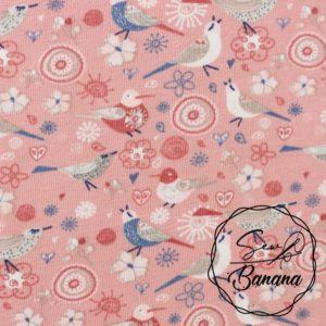 vintage birds pink