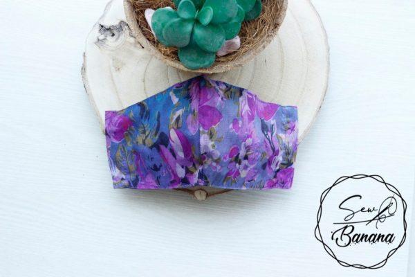 purple flower mask