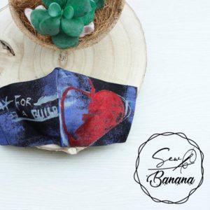 blue love mask