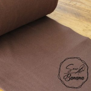 shopping bag brown ribbing