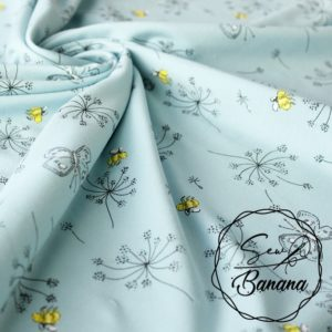 bees Turquoise jersey