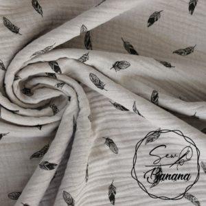 dreamy feathers muslin