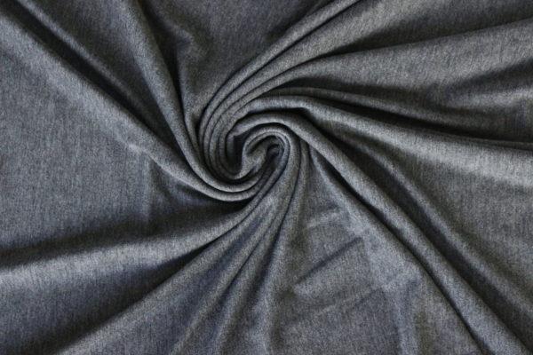 charcoal gray melange jersey