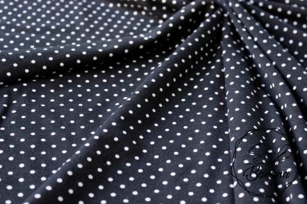 black dots viscose jersey