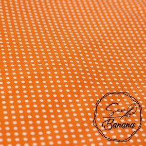 dots orange poplin