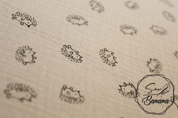 hedgehog mushroom muslin
