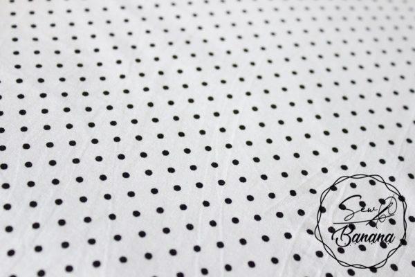 white dots viscose jersey