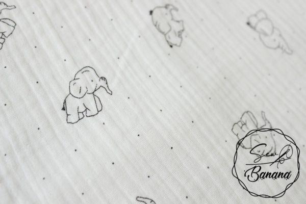 little baby elephant muslin