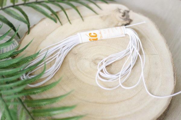 1,5 mm elastic round white