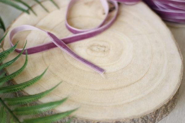 Dusty Lavender 1cm velvet ribbons