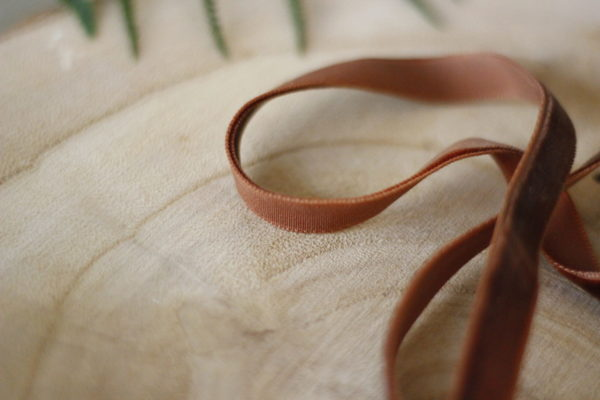 Smoked Paprika 1 cm velvet ribbon