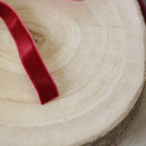 Biking Red 1cm velvet ribbon