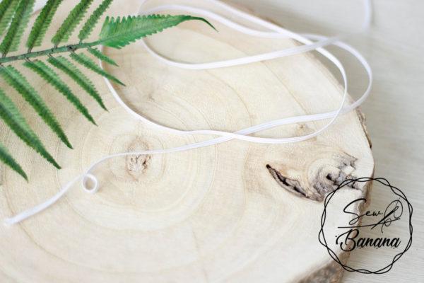 3mm flat elastic white