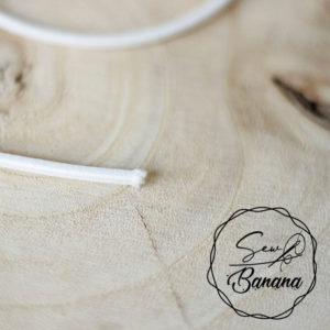 3 mm white round elastic cord
