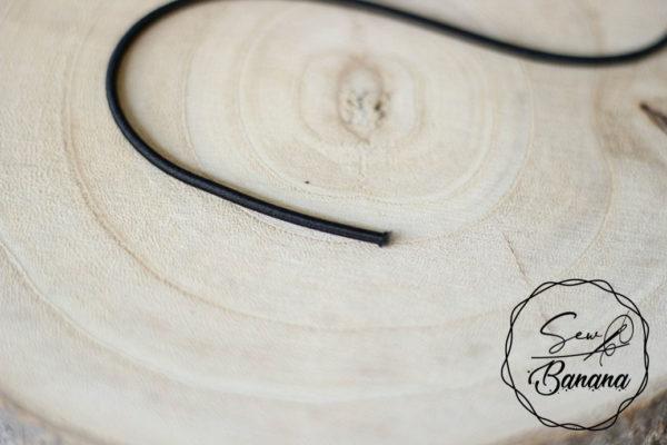 3 mm black round elastic cord