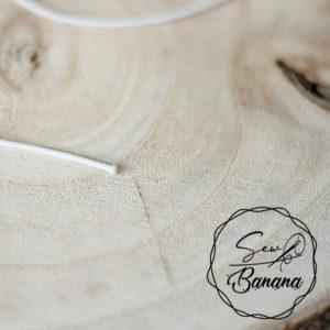1,5 mm round elastic white