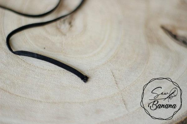 black 3mm flat elastic