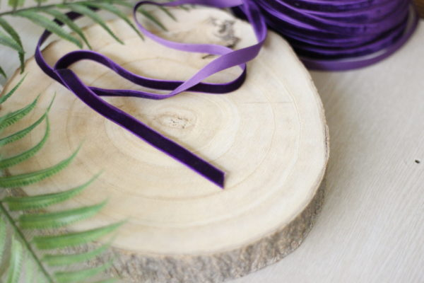 Petunia 1cm velvet ribbon
