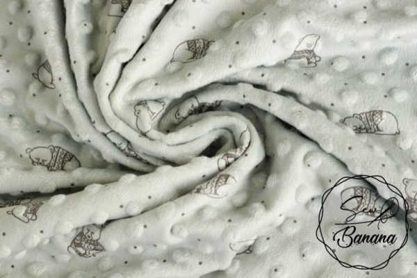 minky fleece sky gray