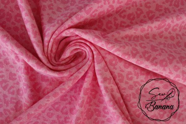 animal print pink jacquard