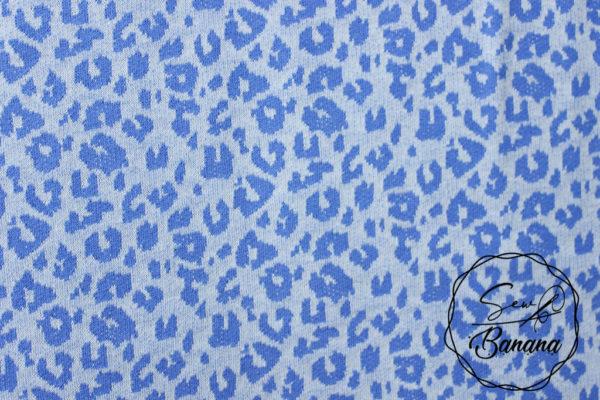 blue animal print jacquard