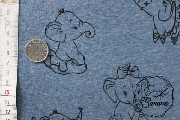 elephant french terry