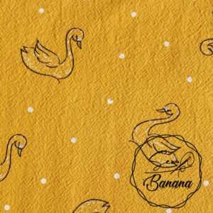 Jenny sunflower swan dream cotton