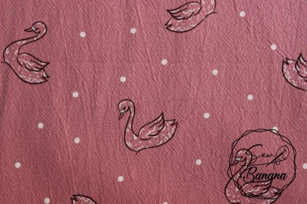 Jenny foxglove swan dream cotton