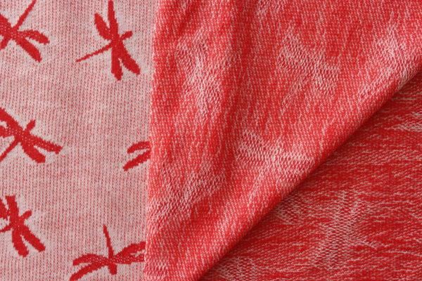 powder pink dragonfly jacquard