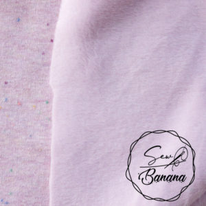 pink lavender melange sweat french terry