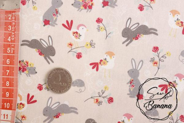Lou the Rabbit, Shell - Poplin
