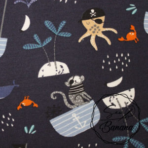 Sea Life, Night Sky- Cotton Stretch Jersey