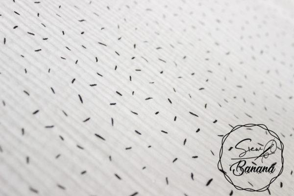 Bright White sprinkles muslin