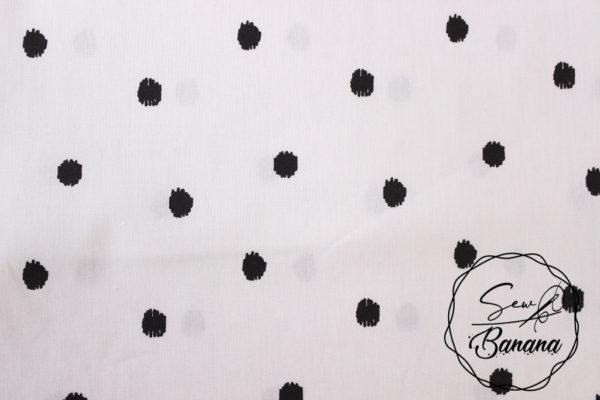 Big Dots, White poplin