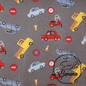 In My Car, Steeple Gray- Poplin