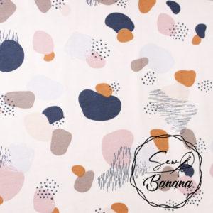 Pebbles, Light Sea Salt - Cotton Stretch Jersey